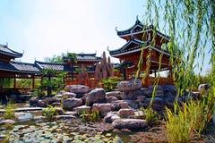 Grön expoträdgård i Zhengzhou Royaltyfria Bilder