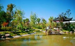Grön expoträdgård i Zhengzhou Royaltyfri Foto