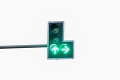 Grön färg på trafikljuset Arkivbilder