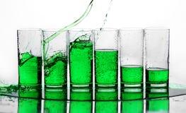 grön färgstänk Arkivbild