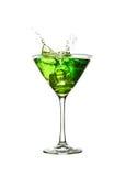 grön färgstänk för coctail Arkivfoton