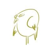 Grön fågel Royaltyfri Fotografi