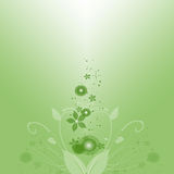 grön fjäder royaltyfri illustrationer