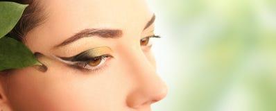 grön fjäder för ögon royaltyfria foton