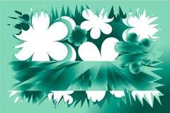 grön fjäder för bakgrund Royaltyfria Bilder