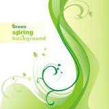 grön fjäder för bakgrund royaltyfri illustrationer