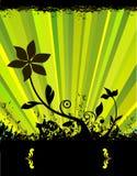 grön fjäder för blomma stock illustrationer
