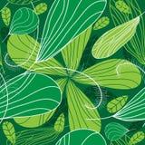 Grön fjäderblommabakgrund. stock illustrationer