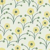 grön fjäderyellow för blommor Royaltyfria Bilder