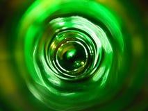 Grön flaska inom Royaltyfri Foto