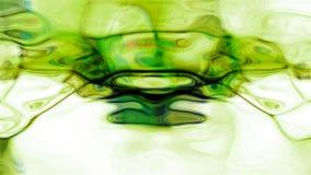 Grön fluid abstraktion Fotografering för Bildbyråer