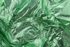 Grön folie Arkivfoto
