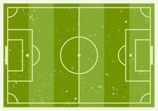 Grön fotboll gjorde randig fältintrig Royaltyfri Illustrationer