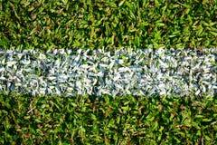 Grön fotboll sätter in Royaltyfria Foton