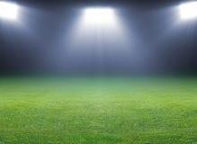 Grön fotboll sätter in Royaltyfri Bild