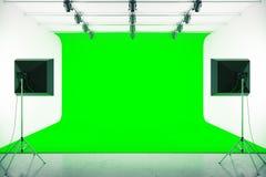 Grön fotostudio vektor illustrationer
