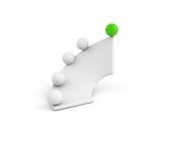 grön framgång som ska ups långt Arkivbild
