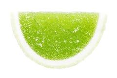 Grön frukt Jelly Isolated Arkivbilder