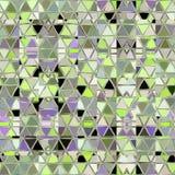 Grön fyrkantmosaik i gående gröna färger för pastell av våren vektor illustrationer