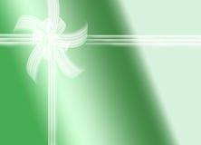 Grön gåva Fotografering för Bildbyråer