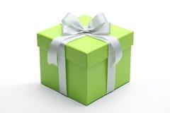 Grön gåvaask Arkivfoto