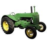 Grön gammal lantgårdtraktor Royaltyfri Fotografi