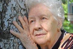 grön gammal ståendekvinna för bakgrund Royaltyfri Bild