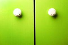 grön garderob för dörr royaltyfri fotografi