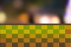 Grön geometrisk bakgrund - illustration Arkivfoton