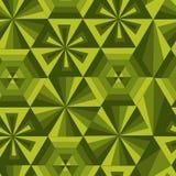 Grön geometrisk poligonmodell Fotografering för Bildbyråer