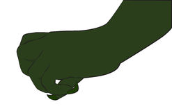 Grön gigantisk hand Arkivfoton