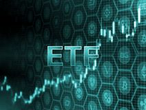 Grön glödande text på stearinljuspinnediagram med bitcoin och alt-myntbakgrund Sekund-beslut som godkänner ETF fonden vektor illustrationer