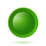 Grön glansig knappsymbol royaltyfri illustrationer
