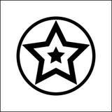 Grön glass stjärna för vektor Arkivbilder