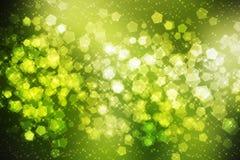 Grön gnistrandebakgrund Arkivfoton