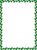 Grön gräns med blommavektorn stock illustrationer