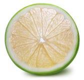 Grön grapefrukt, raring, vit grapefrukt på vita lodisar Royaltyfri Fotografi