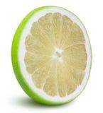Grön grapefrukt, raring, vit grapefrukt på vita lodisar Royaltyfria Foton