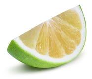 Grön grapefrukt, raring, vit grapefrukt på vita lodisar Arkivbild