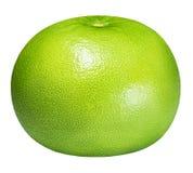 Grön grapefrukt, raring, vit grapefrukt som isoleras på vita lodisar Royaltyfria Bilder