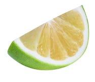 Grön grapefrukt, raring, vit grapefrukt som isoleras på vita lodisar Arkivfoto