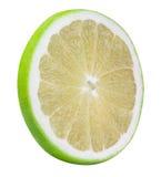Grön grapefrukt, raring, vit grapefrukt som isoleras på vita lodisar Arkivbilder