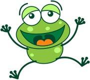 Grön groda som högt skrattar Royaltyfri Bild