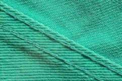 Grön grov bomullstvilltextiltextur Royaltyfria Bilder