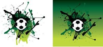 grön grunge för fotboll Arkivfoto