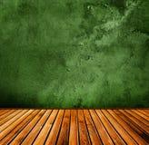 grön grungeinterior Royaltyfria Foton