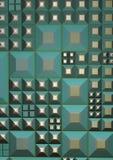 grön grungetechno vektor illustrationer