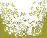grön grungevektor för bakgrund Arkivbilder