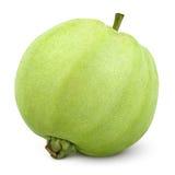Grön guava för singel som isoleras på vit Arkivbild