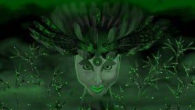Grön gudinna Royaltyfri Fotografi